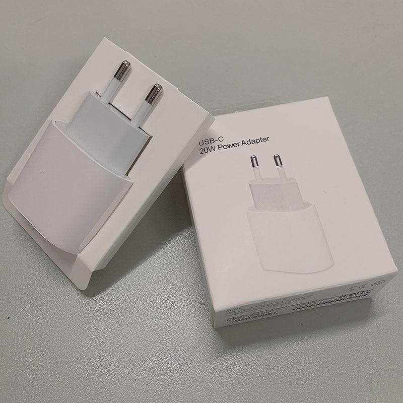 Original 20w USB-C adaptador de energia para apple carregador ue plug adaptador carregador rápido para iphone 12 pro max mini 8 plus x xs 11 xr