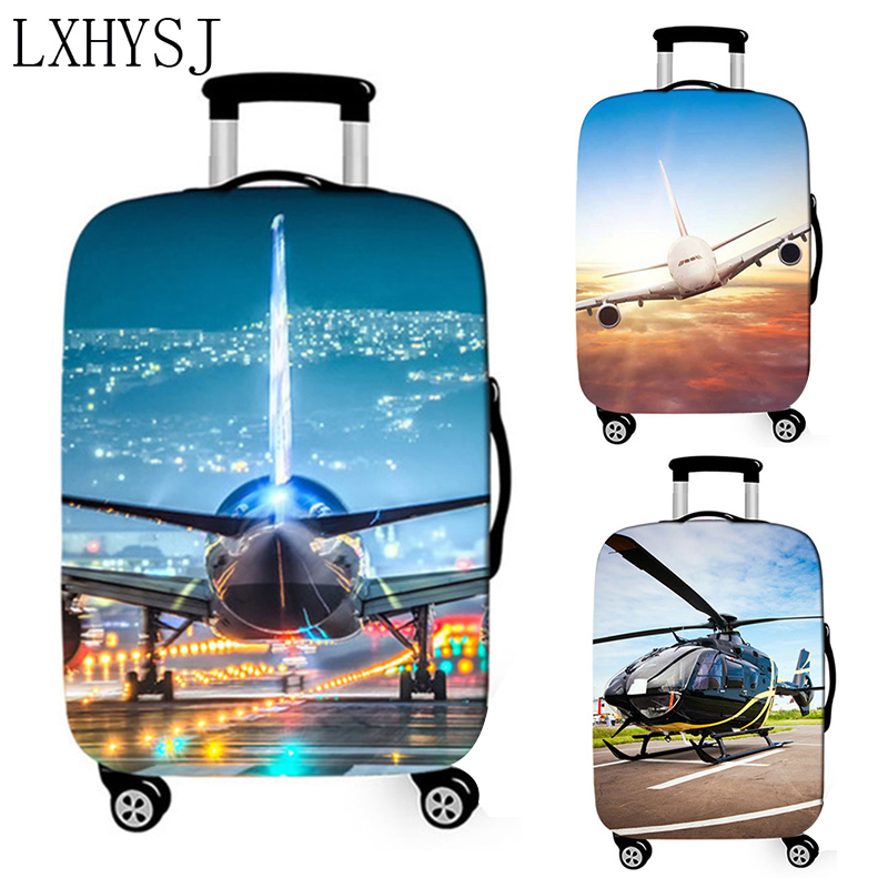 Aircraft Travel Suitcase Cover Elastic Fabric Luggage Protective Covers 18-32 Inch Thicken Trolley Case Cover Travel Accessory