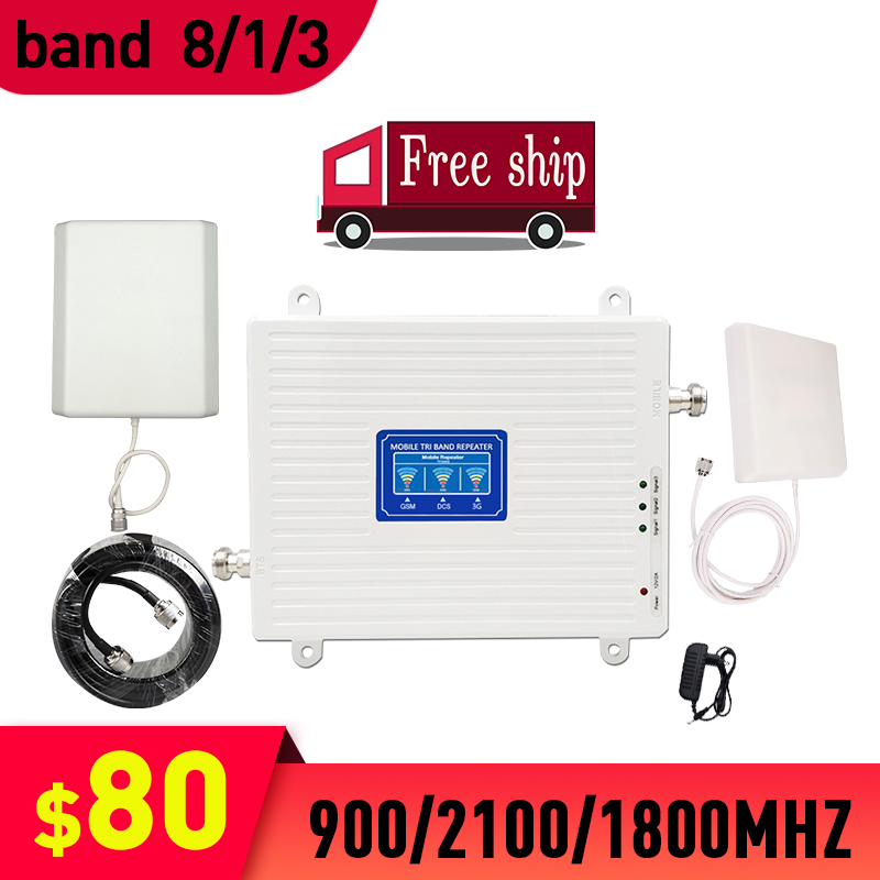 TFX-BOOSTER 2G/3G/4G Mobile Cellular Signal Repeater Triple Band GSM 900 LTE DCS 1800 WCDMA 2100mhz  Cell Phone Signal Booster