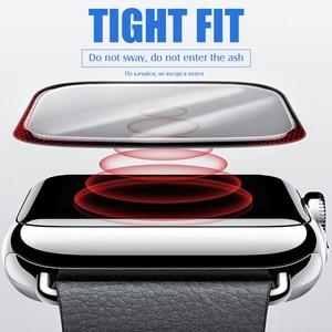 Image 3 - 20D מעוקל מלא כיסוי מזג זכוכית עבור Apple שעון 1 2 3 4 מסך מגן עבור Iwatch 38 40 42 44mm מגן זכוכית סרט