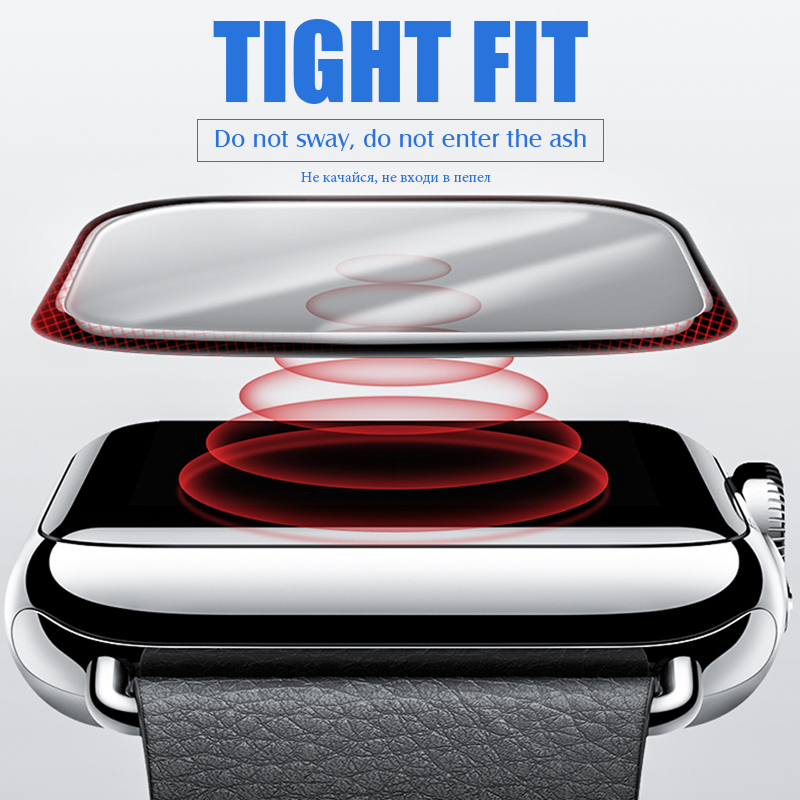 Image 3 - 20D Curved Full Cover Tempered Glass For Apple Watch 1 2 3 4 Screen Protector For Iwatch 38 40 42 44mm Protective Glass Film-in Phone Screen Protectors from Cellphones & Telecommunications