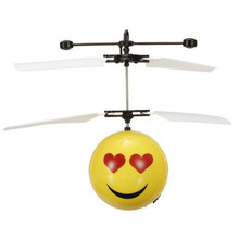 Antistress Emotion Magic Flying Ball Infrared Induction Flying Flash Disco Smile Magic LED Lamp Ball Helicopter KID Toy RC Drone цены онлайн