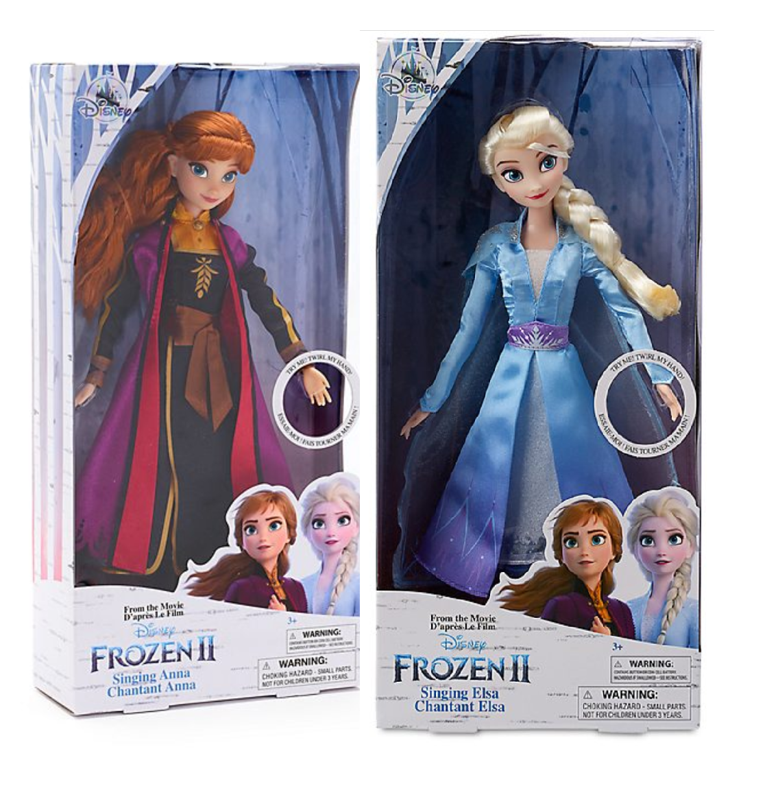 2020 NEW Disney <font><b>Frozen</b></font> <font><b>2</b></font> Elsa & Anna PVC Action <font><b>Figure</b></font> Olaf Kristoff Sven Anime Dolls Figurines Snow Queen Toy high quality gift image