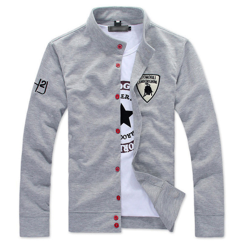 Autumn Men's Slim Sweatshirt Fleece Long Sleeve Jacket Cardigan Casual Button Tracksuit Male Fashionable Quality Coat For Spring