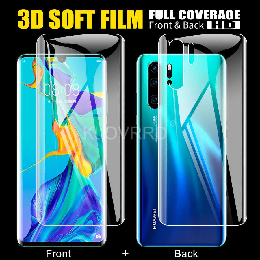 Front + Back Full Glue Screen Protector Hydrogel Sticker For Huawei Nova 5i 5 5T Honor 9X Pro 20 20i Mate 30 Lite P smart z