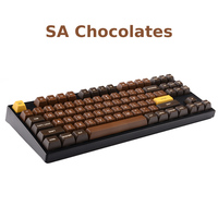 1 set PBT dye sublimation SA profile key caps chocolates chalk Miami night mechanical keyboard keycap for MX switches