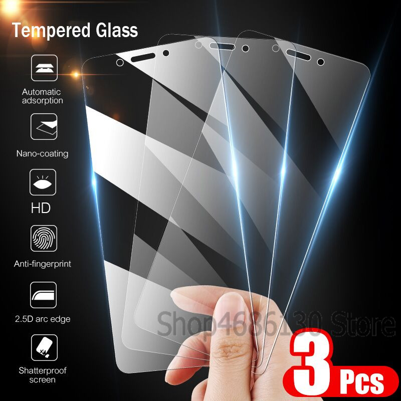 3-1PCS 9H Tempered Glass For Samsung Galaxy A8 A6 Plus Screen Protector For Samsung Galaxy A7 2018  J6 J4 Plus Glass