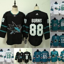 Сшитые мужские футболки для взрослых#88 Brent Burns 8 Joe Pavelski 35 Logan кутюр 65 Erik Karlsson