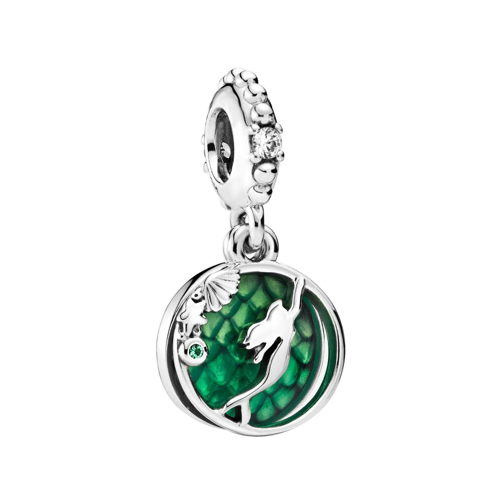 2019 New Original 925 Sterling Silver Bead Luminous Ariel Dangle Charm Fit Pandora Bracelet Bangle Necklace Women DIY Jewelry