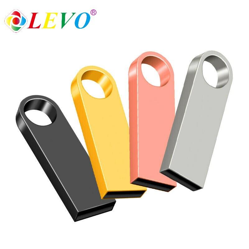 Sliver Golden metal pen drive 64GB USB Flash Drive 8GB 16GB 32GB 128GB memory stick flash card u disk 256gb PENDRIVE 6