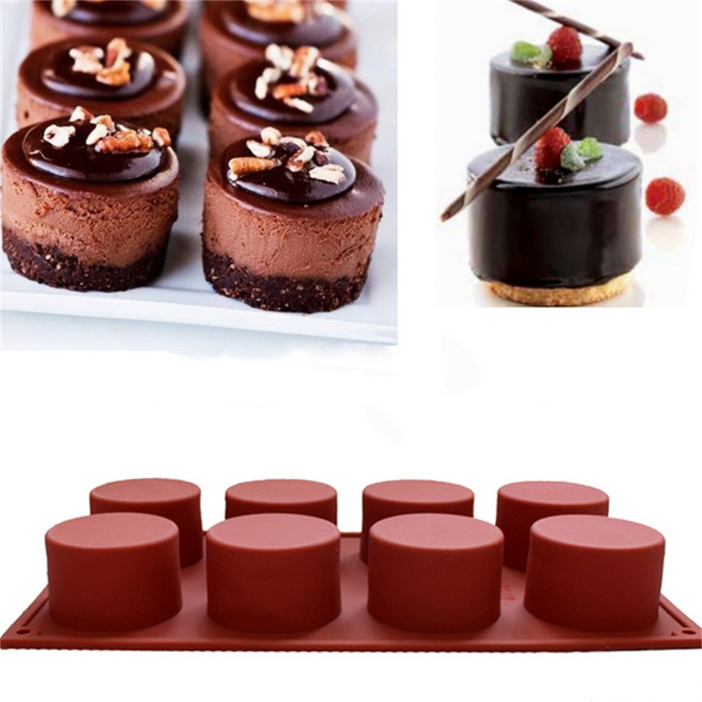 Diy 8-cavidade oval forma sabão molde de bolo de silicone molde de pastelaria cozimento redonda geléia pudim sabão forma de bolo de gelo ferramenta de decoração #1