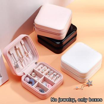 Earring Board Jewelry Box Organizer Display Or Travel Portable For Women Zipper Snap Case Z4M5
