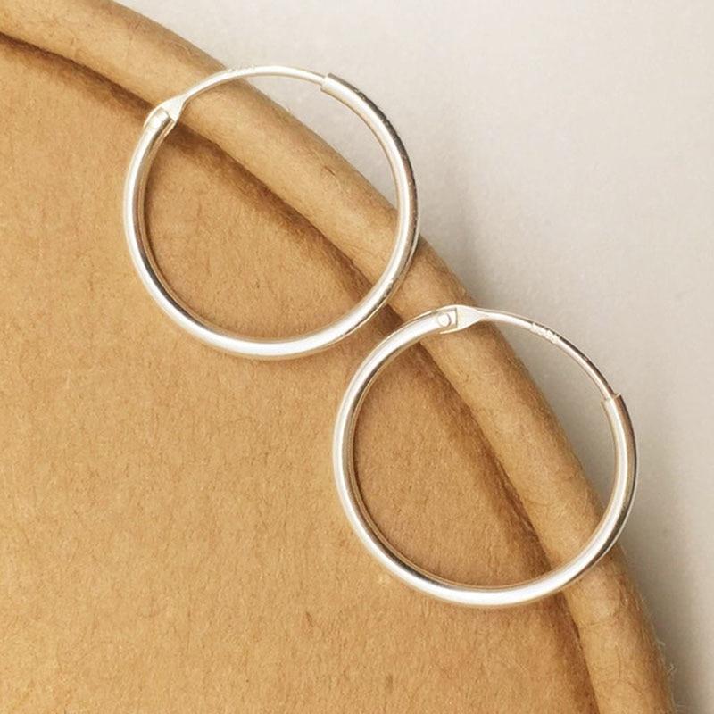 925 Sterling Silver Mini Small Medium Hoop Earrings For Women Men Earring Silver Gold 8mm-20mm Minimalist 1.2mm Hoops Vintage