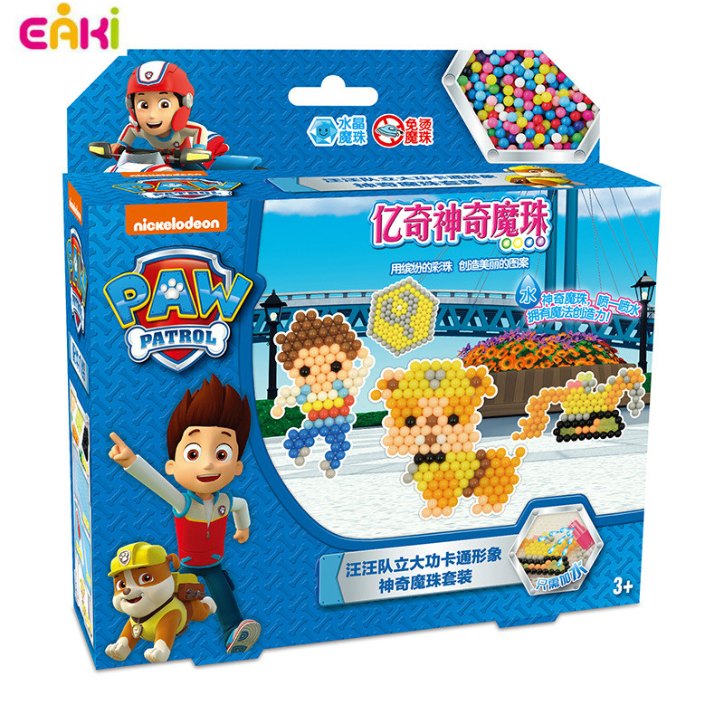 Genuine EAKI Magic Kids Bean Puzzle Toy Water-soluble Handmade Bead Model Educational Learning Arts And Crafts Diy Toys