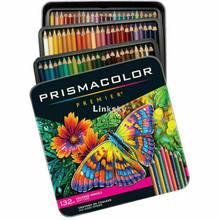 Caixa De Lápis De Cor Prismacolor Premier 132 Núcleos, 4.0mm soft core 132 Pacote de caixa de Lata, lápis de desenho da arte, Arte suprimentos