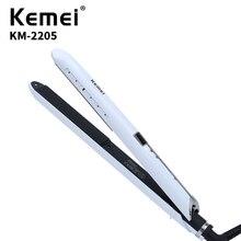 KEMEI Professional Fast Preheating Straight Hair Clip Electric Splint Curling Dual-Use Curler KM-2205