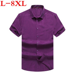 new Plus size 8XL 7XL 6XL New Arrival  Summer Men Shirt Short Sleeve Casual Slim Fit Design Shirts For Male High Quality