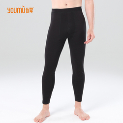 Down cotton trousers for men, wearing thin and slim fit, slimming waist warm pants, skinny white goose down pants in winter