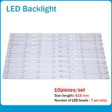 "1 conjunto = 10 peças led backlight para 32 ""polegadas tv 32vle401 32vle4500 2013arc32 2013arc320 3228n1 2013arc32_32281 7 615mm 7 lente"