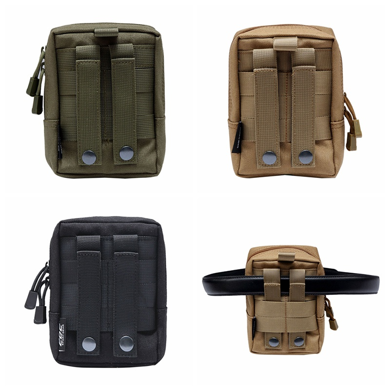 Tactical Molle System Medical Pouch 1000D Utility EDC Tool Accessory Waist Pack Phone Case Airsoft Hunting Pouch