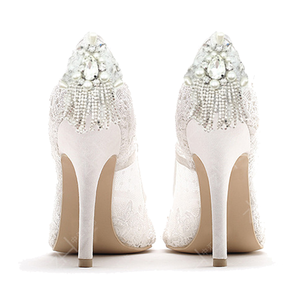2 Pieces Crystal Pearl Shoe Clip Buckle Wedding Bridal Party Shoe Decoration