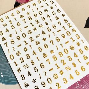 598-599 алфавит, символ цифры, буквы, 3D наклейка на спинку, наклейка для ногтей, украшение для ногтей, инструмент для дизайна ногтей, украшение д...