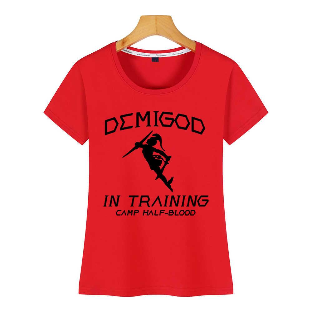 Tops T Shirt Women Demigod In Training Camp Half Blood Percy Jackson Maternity  Hip Hop Vintage Short Female Shirt