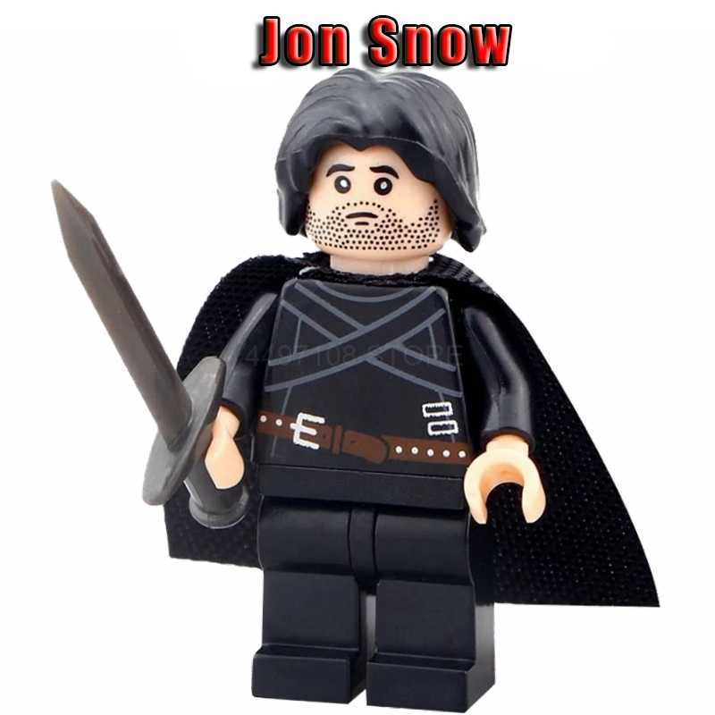 Game of Thrones Jon Snow Daenerys Arya Stark Petyr Baelish Jaime Ice And Fire Endgame Mini Blocks Toys Model Bricks toy story 4