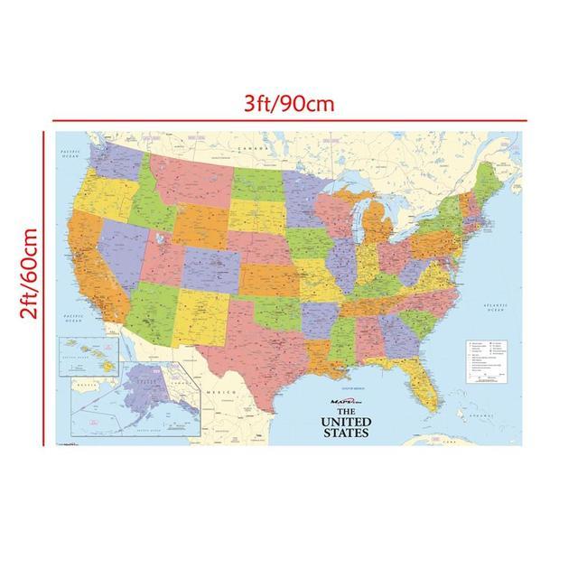 Stati Uniti Cartina Fisica E Politica.Cartina Fisica Stati Uniti D America