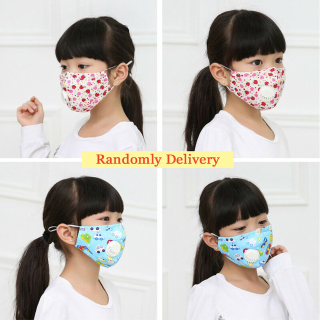 Washable Reusable Anti Air Pollution Face Mask & Respirator 2 Filter Kids boy Girl Cute Safety Masks Anti Flu Protective Mask 5