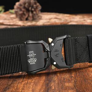 Image 2 - FRALU Tactical belt Military high quality Nylon mens training belt metal multifunctional buckle outdoor sports hook new