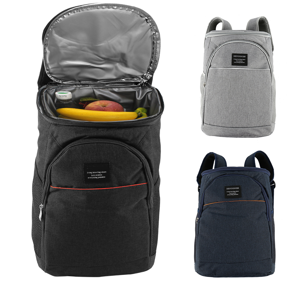 20L High-capacity Cooler Backpack Family Lunch Picnic Food Storage Ice Bag Large Thick Fresh Carrier Thermal Bags With Open Lid