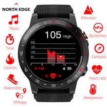 Northedge gps relógio inteligente correndo esporte gps relógio bluetooth telefone chamada smartphone à prova dwaterproof água freqüência cardíaca bússola relógio de altitude