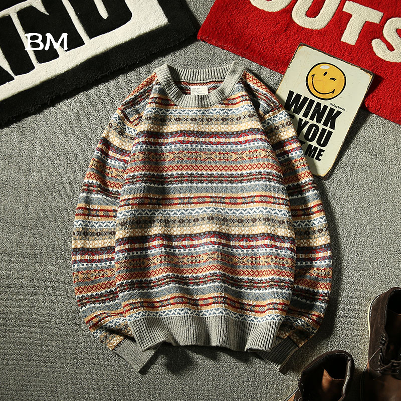 Fashion Color Yarn Sweater Men Korean Style Clothes 2019 High Quality Clothing Winter Warm Sweaters Man Harajuku Coat
