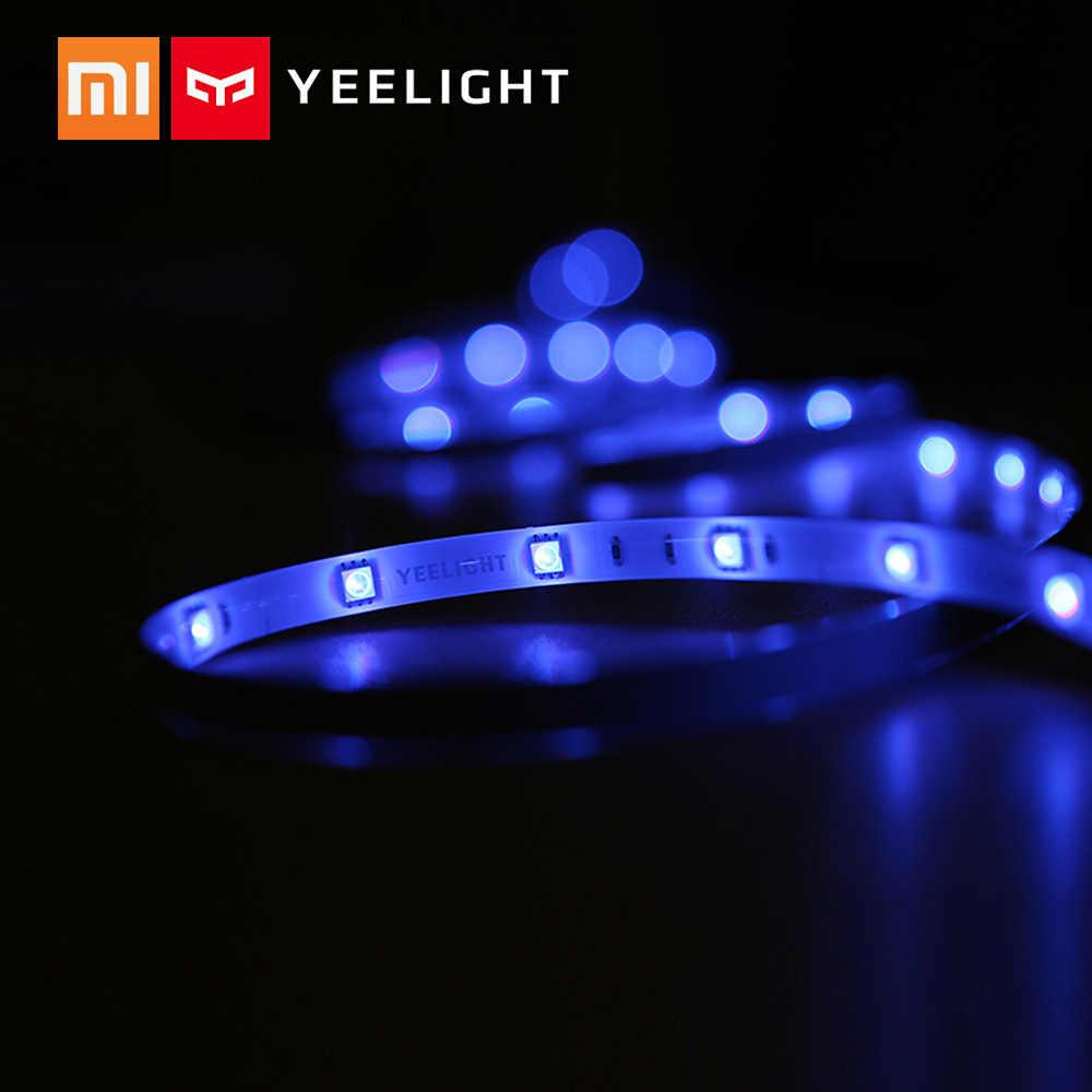 Yeelight inteligentne taśmy oświetleniowe led RGB 2m taśmy oświetlenie otoczenia telefon wifi kontrola aplikacji dla Xiaomi strona główna Christmas Room Club Bar