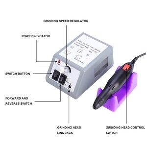 Image 4 - נייל חשמלי המקצועי מקדחה כרסום מכונת עבור מניקור פדיקור קבצי כלים ערכת נייל לטש גריסה זיגוג מכונת