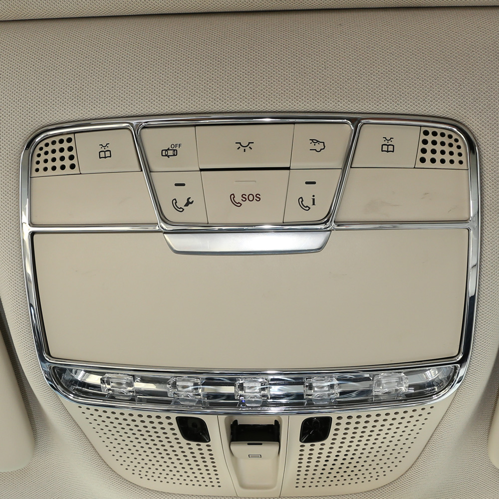 Front Reading Light Frame Decorative Cover Trim ABS Chrome for <font><b>Mercedes</b></font> Benz CGLCE Class <font><b>W205</b></font> X253 W213 Car Accessories image