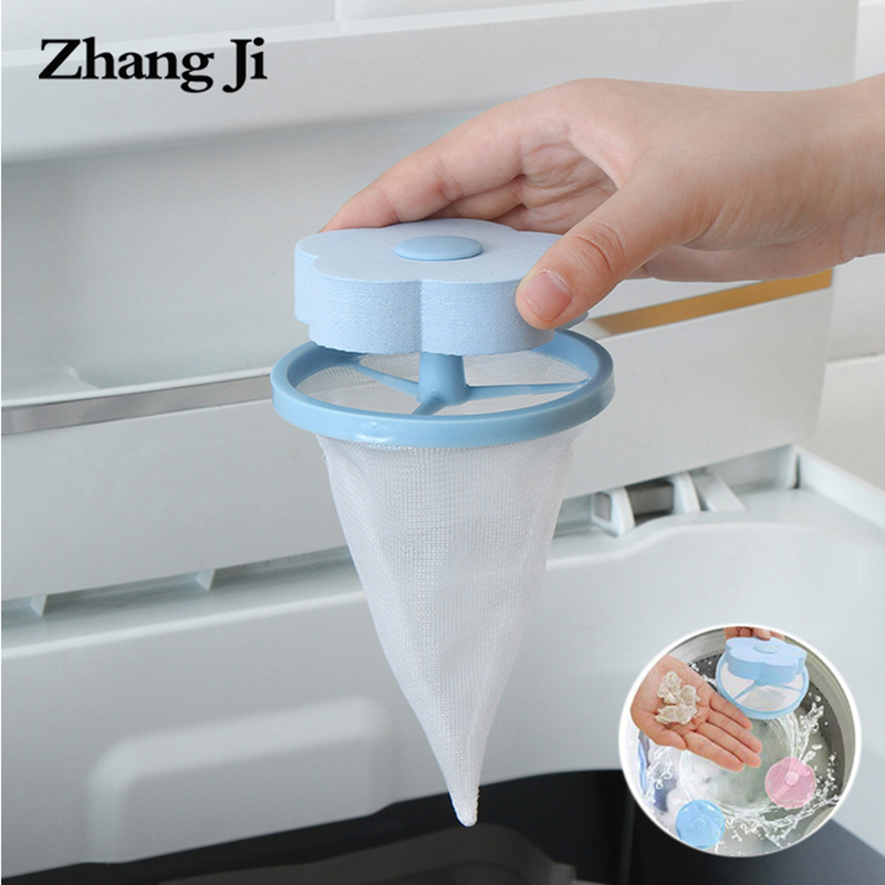 Zhangji Washing Machine Filter Net Collect Lint Dirty Sponge Floating Hair Filter  Pouch Household Reusable Washer Hair Catcher