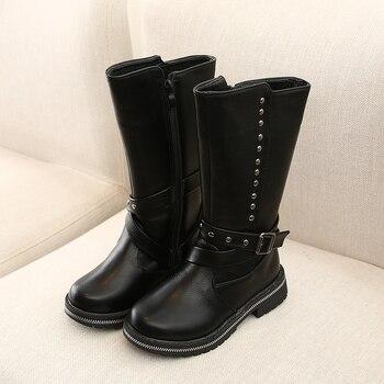 цена COMFY KIDS girls boots shoes winter cotton warm plush girls snow boots for kids children pu leather boot for girls онлайн в 2017 году