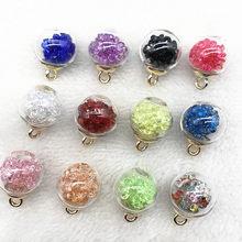NEW 10pcs 21x16mm Magic Ball Transparent Glass Beads Transparent Pendant Crystal for Christmas Decoration