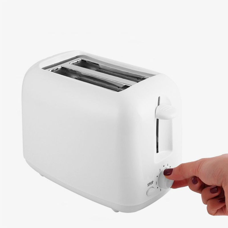 Автоматический Электрический тостер для приготовления пищи с 2 ломтиками, очень широкий слот, инструмент для завтрака и песка для семьи