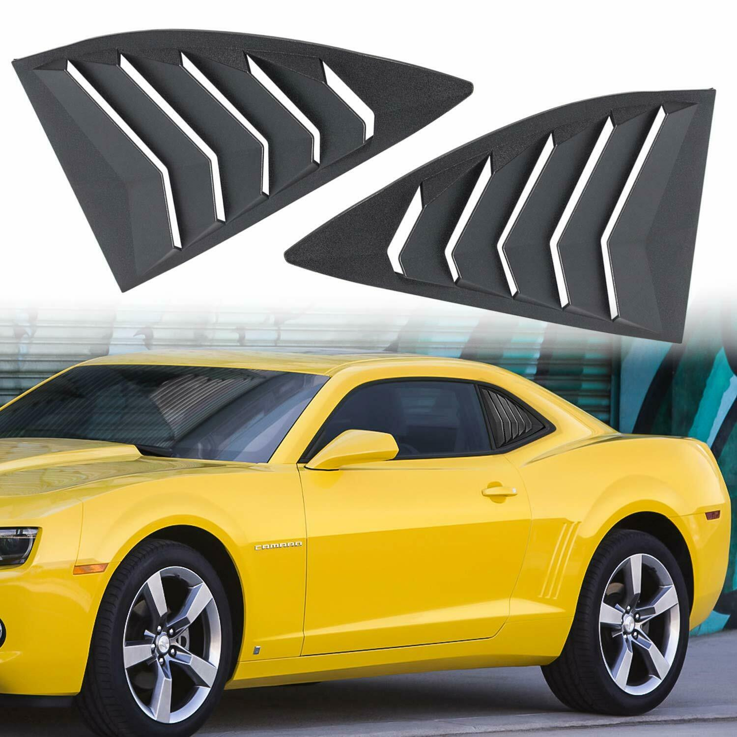 Chuang Qian Side Window Scoop Louvers ABS Window Visor Cover Sun Rain Shade Vent for 2010-2015 Chevrolet Camaro LS LT RS SS
