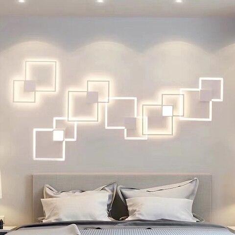 cozinha minimalista lampada de parede sala estar luminarias superficie montado tv fundo decoracao iluminacao led