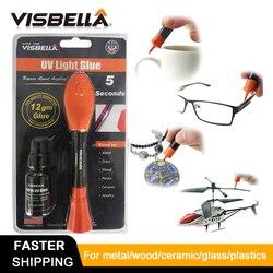 VISBELLA New 5 Second Fix Uv Liquid Light Glue Pen Super Powered Liquid Welding Bottle Glass Metal LED Plastic Adhesive Repair