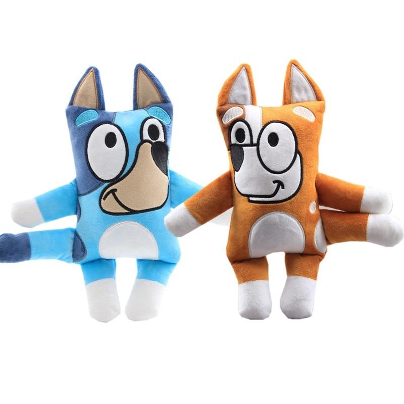 2pcs/lot Bluey Bingo The Dog Plush Doll Cartoon TV ABC Bluey Soft Stuffed Plush Toys For Children Christmas Gifts