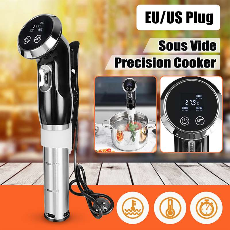 1500W Vacuum Slow Sous Vide Cooker 15L Immersion Circulator Machine LCD Digital Timer Stainless Steel EU/US Plug for Home Cooker