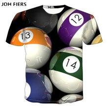 JOH FIERS billiards snooker cue 3d print t-shirt women men short sleeve casual t shirt sport hip hop Harajuku clothes