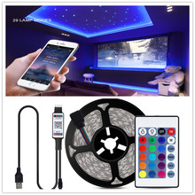 Bluetooth LED Strip Dapur Lampu RGB LED Malam Lampu 1-5M Kabinet Counter PC TV Kamar Tidur Dinding Dekorasi pencahayaan Dalam Ruangan USB Power(China)