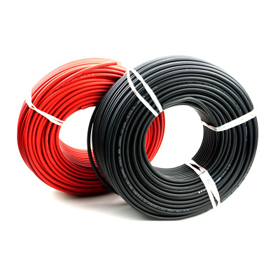 ALLMEJORES Solar PV Cable Red Blak Cable For Solar Panel System 1500v 2.5mm² /4mm² /6mm² (14/12/10AWG )TUV UL Approval 6m/Roll