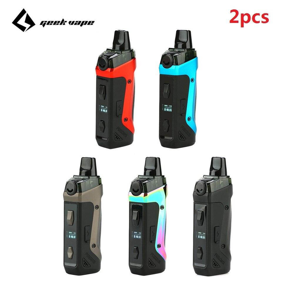 2pcs!!! Geekvape Aegis Boost Pod Kit With 1500mAh Battery & 3.7ml Refillable Pod Fit Both Pod & RDTA Pod System Vs Vinci Mod Pod